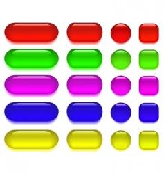 Glass button vector