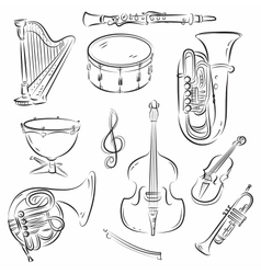 Symphony orchestra set vector