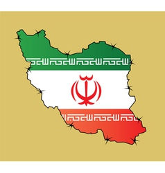 Iran map flag vector