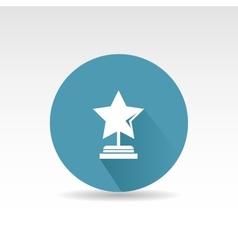 Flat star first place design vector