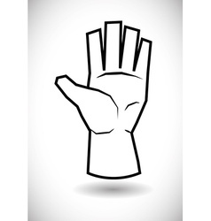 Hand sign design vector
