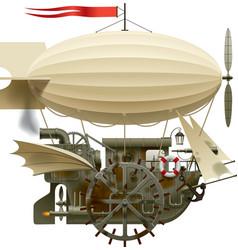 Flying ship vector