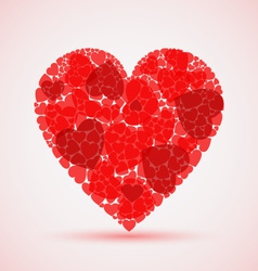 Valentine abstract red mosaic heart vector
