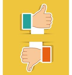 Hands gesture design vector