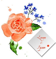 Rose and forget-me-flower for celebratory design vector