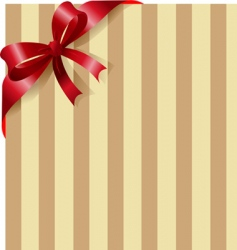 Red ribbon on stripe background vector