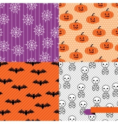 Seamless backgrounds of halloween-related objects vector