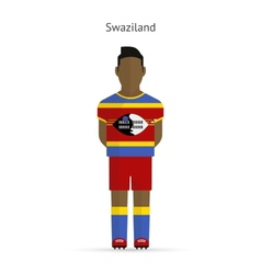 Swaziland football player soccer uniform vector