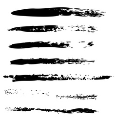 Black brush strokes2 vector