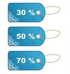 Set winter discount tickets vector