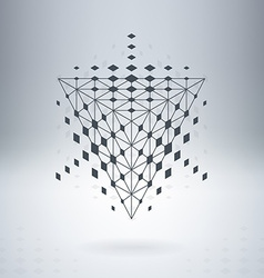 Soaring pyramid with connected lines and dots vector