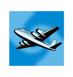 Propeller airplane retro vector