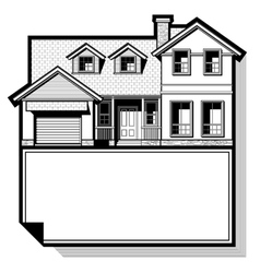 Single family house vector