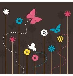 Butterfly and a flower vector
