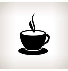 Silhouette cup of tea  cup of coffee vector