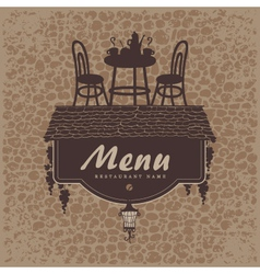 Menu furniture vector