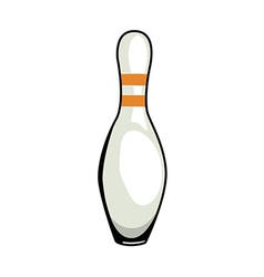 A view of bowling pin vector