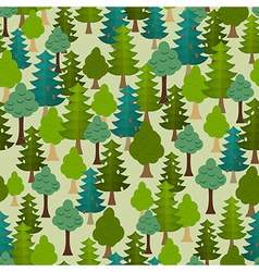 Seamless forest pattern cartoon tree vector