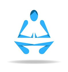 Abstract body in yoga lotus pose vector