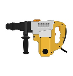 Big electric hammer drill color vector
