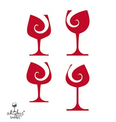 Beautiful sophisticated wine goblets alcohol theme vector