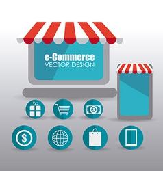 Ecommerce design vector