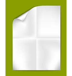 Sheet of folded paper vector