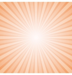 Sunny orange and white background with retro rays vector