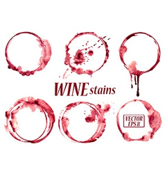 Watercolor wine stains icons vector