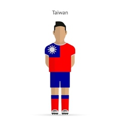 Taiwan football player soccer uniform vector