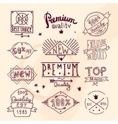 Premium retro quality emblem vector