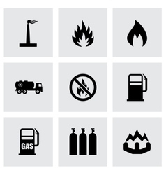 Natural gas icon set vector