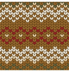 Seamless knitted geometric pattern vector
