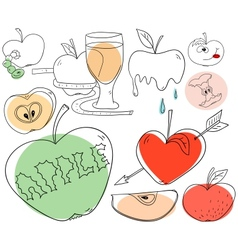 Apple collection vector