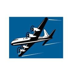 Propeller airplane retro vector