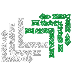 Borders and patterns in celtic style vector