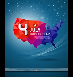 Independence day map of america geometry vector