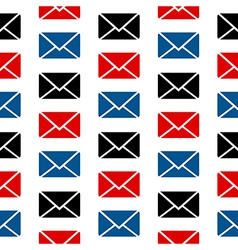 Mail symbol seamless pattern vector
