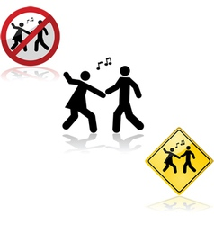 Dance signs vector