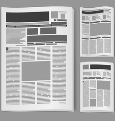 Blank newspaper vector