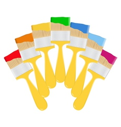 Yellow paintbrushes vector