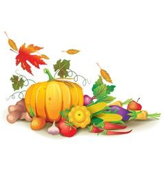 Still life of autumn harvest vector