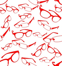 Seamless red spectacle pattern vector