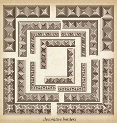 Seamless maze border simple to use elements vector