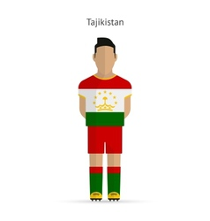Tajikistan football player soccer uniform vector