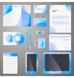Stylish company brand design template vector