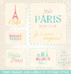 Paris greeting card design elements vector