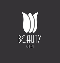 Tulip beauty floral design logo vector