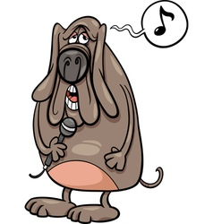 Singing dog cartoon vector