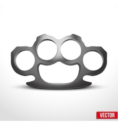 Metal brassknuckles vector